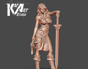 3D printable model Barbarian beauty - Serenza 35mm scale