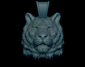 3D printable model Tiger pendant ring
