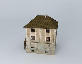 European Tall Residential House 3D asset