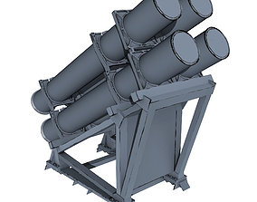 Harpoon Missile Launcher 3D model