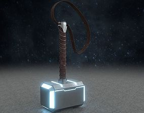 3D model Low poly Thor Hammer