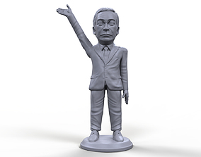Nigel Farage stylized high quality 3D printable miniature