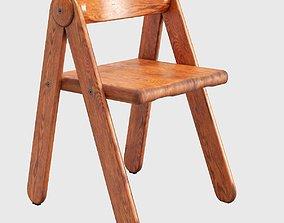 Pierre Grosjean Rare Child Chair 3D model