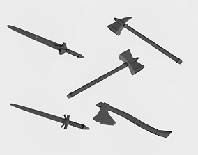 3D printable model Swords and axes