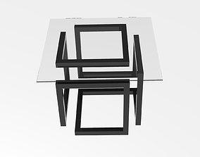 Loft style coffee table 3D print model