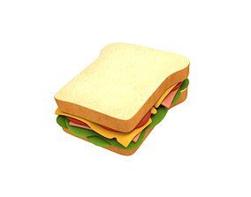 meal 3D Sandwich