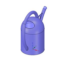 handle watering can for flowers v01 3d-print and