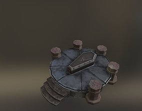 altar sacrum coffin 3D asset