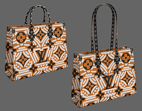 3D model Louis Vuitton Bag Onthego Crafty Cream Caramel