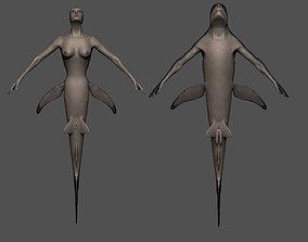 3D model Mermaid sharks