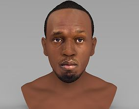 Usain Bolt bust ready for full color 3D printing