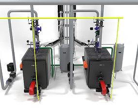 Viessmann Vitoplex 100-1700 boilers instalation 3D