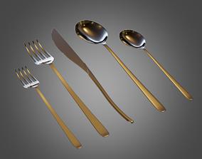 3D asset Cutlery