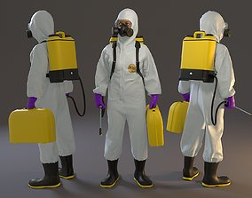 3D asset Biohazard Suit Female ACC 2130 005