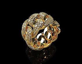 3D print model Diamond Cuban Ring 3