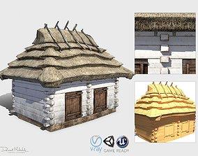 3D model realtime Pigsty Building - Slav Architecture