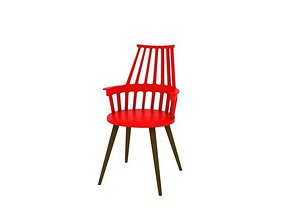 Kartell Comback Chair 02 3D model