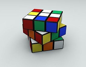 3D asset Rubik Cube Puzzle