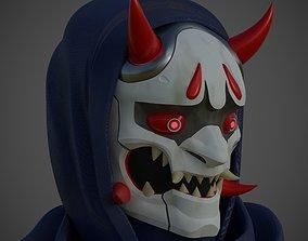 3D printable model Mask Genji Oni skin from Overwatch