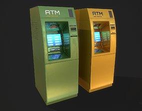 ATM cash machine 3D asset