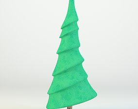 Cartoon Tree 3D Model tree rigged
