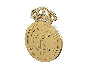 Real Madrid logo pendant and 3D print model