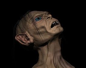 sculptures 3D print model Gollum