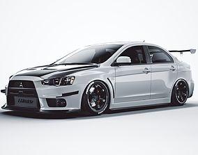 Mitsubishi lancer evolution X tuning 3D