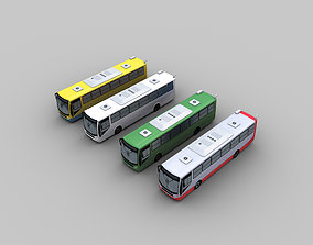 3D asset Lowpoly City Bus