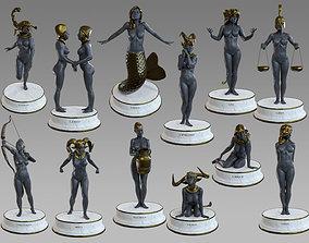Zodiac Signs Female models pack 3D asset