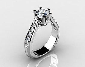 3D printable model Engagement ring custom design