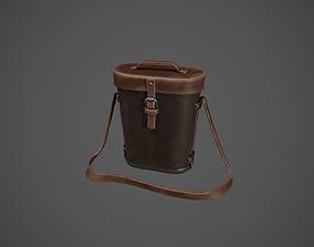 Dark Brown Leather Binocular Bag 3D asset