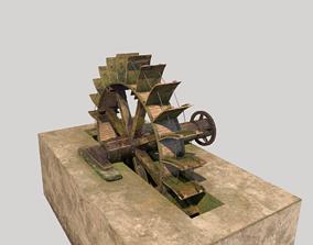 Water Mill Wheel 3D model