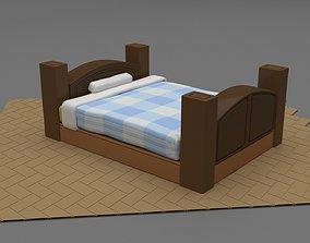Stilized Bed 3D model