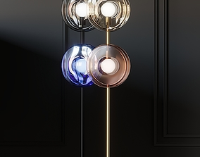 BOMMA ORBITAL Crystal Floor lamps 3D model