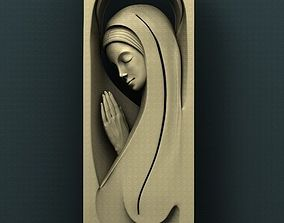 Virgin Mary 3d stl model for cnc