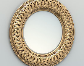 wall Round mirror frame 003 3D model