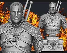 3D print model Witcher Geralt of Rivia bust