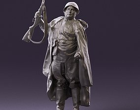001012 big man in soviet soldier suit with ppsh 3D Print