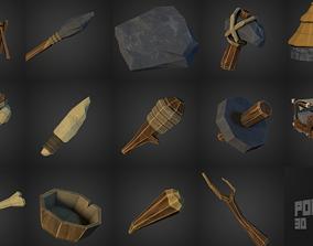 3D primitive Stone Age Set