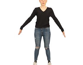 No302 - Female T Pose 3D model