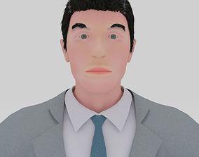 3D model People man officer