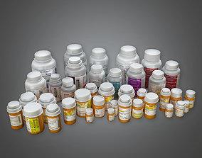 3D model Pill Bottles HPL - PBR Game Ready