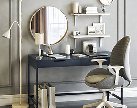 Womens dressing table and workplace 3D