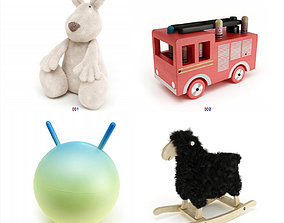 Stuffed Toys Set V1 3D model