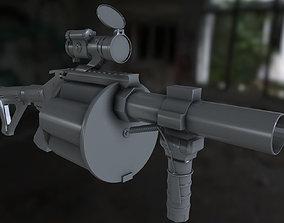 3D model 190 grenade launcher