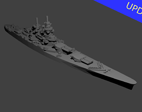 French Richelieu Class Battleship 3D print model
