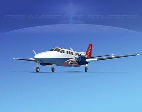 3D model Beechcraft B99 Gulf Coast Express
