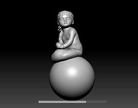 3D print model kid girl Mermaid sculpture