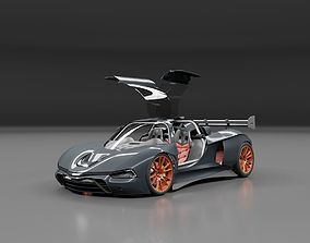 3D mustanger super sports racing car concept